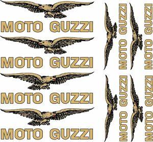 kit-adesivi-MOTO-GUZZI-ORIGINALI-SERIGRAFATI-Aufkleber-STICKERS-colore-oro