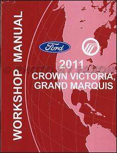 crown victoria grand marquis shop manual ford mercury