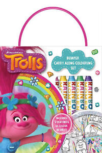 Trolls-Bumper-Carry-Along-Colouring-Set-Crayons-Travel-Acivity-Kids
