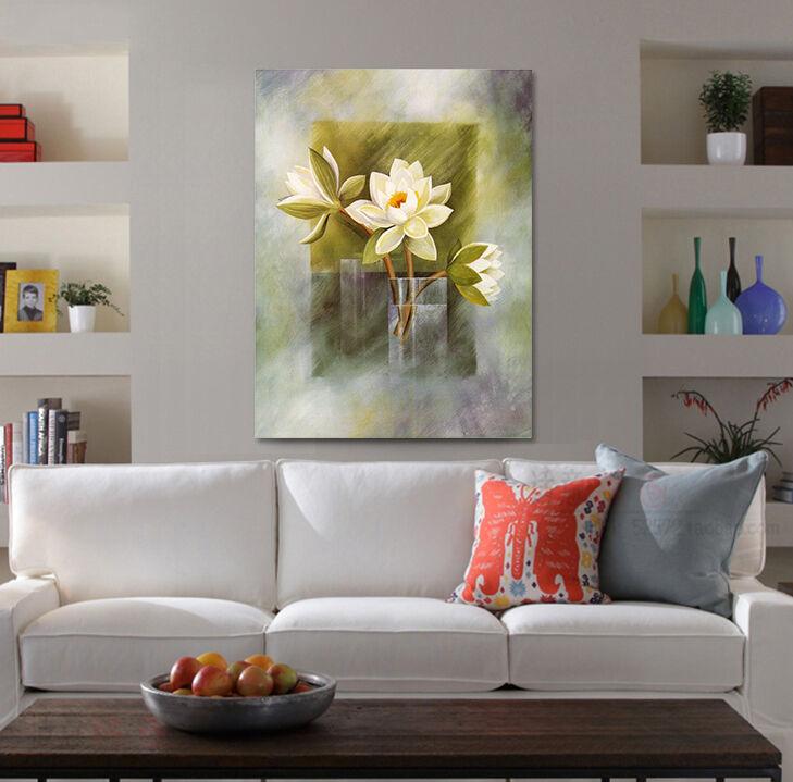 3D LotusBlaume Weiß 524 Fototapeten Wandbild BildTapete Familie AJSTORE DE