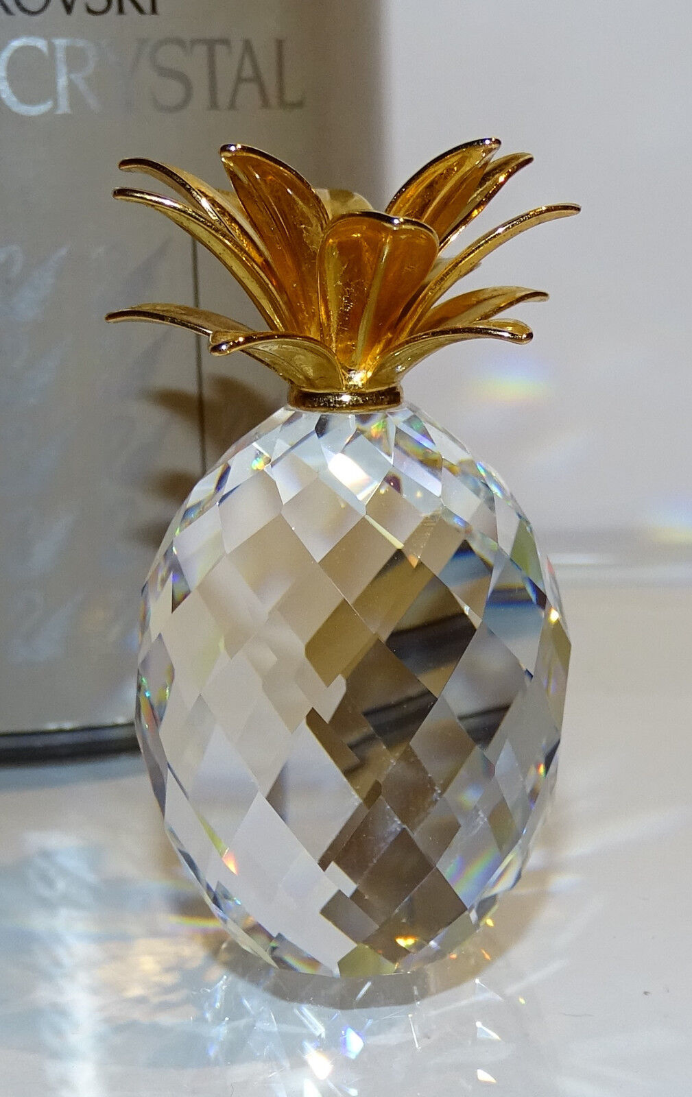 SWAROVSKI d'or Ananas Grand d'or SWAROVSKI feuilles large Pineapple or Leaves Top 534eb4