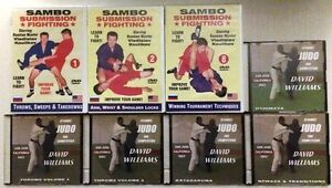Lot-of-Eight-8-DVD-039-s-Sambo-Submission-Fighting-amp-Judo-by-Dave-Williams