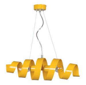 Pendant-Ceiling-2-Lights-Lampshade-Industrial-Modern-Yellow-SAKER