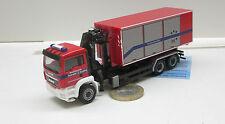 """091091:  MAN TGS M Abrollcontainer-LKW mit Ladekran """"Feuerwehr Augsburg"""""""