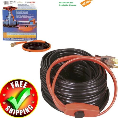 Winter Valve Heating Cable Cold Weather Pipe Protection Freeze Water Hose NEW