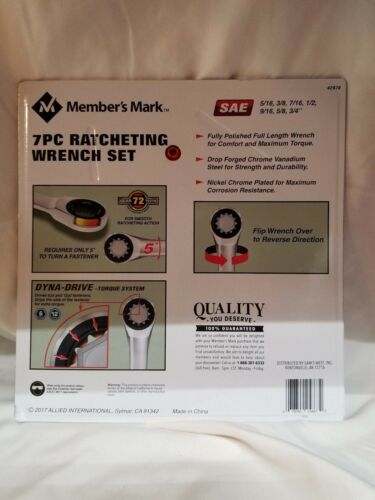 7-Piece Ratcheting Wrench Set SAE Standard NEW