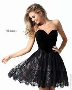 5782e81f076 Image is loading Sherri-HIll-50765-Black-Stunning-Homecoming-Cocktail-Dress-