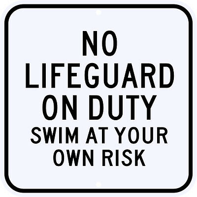 """LIFEGUARD ON DUTY 17/"""" ROUND DOME SIGN~SUMMER POOL BEACH"""