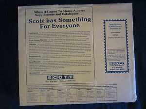 SCOTT MINUTEMAN BLANK PAGES BORDER D. NEW OLD STOCK