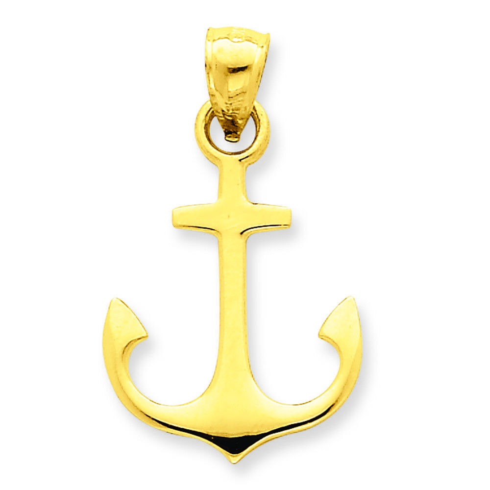 14K Yellow gold Anchor Charm Pendant MSRP  235