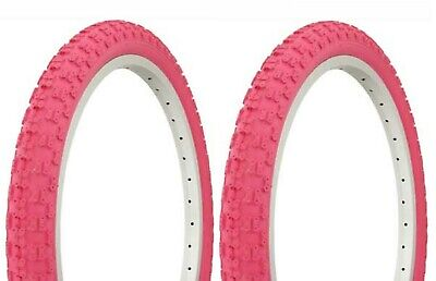 2 DURO 20X2.125 BICYCLE TIRES KNOBBY PATTERN WHITEWALL,SCHWINNS,BMX TWO