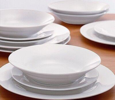 Dinnerware Porcelain Set 12pcs Dinner Side Plates Bowl Dinning Tableware Kitchen
