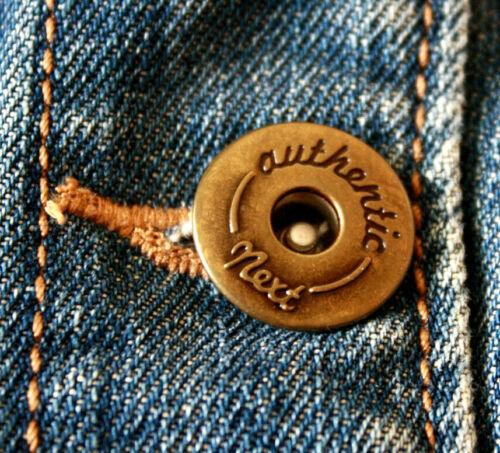 Next Jeans Ladies Cropped Blue Denim Jacket Size UK 12 Chest 37 inch