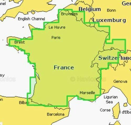 Navionics Plus Small 538 Seekarte Frankreich Binnengewässer Genfer See Zürichsee