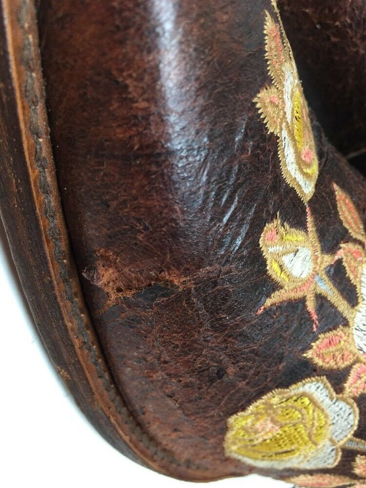 #P VTG Damenschuhe MACIE BEAN SNIP TOE LEATHER COWBOY LEATHER TOE BROWN Stiefel SIZE 9.5 M 8bf80f