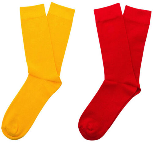 Homme Relco Rouge /& Jaune Ska Mod Scooter Vintage Skinheads Style Chaussettes