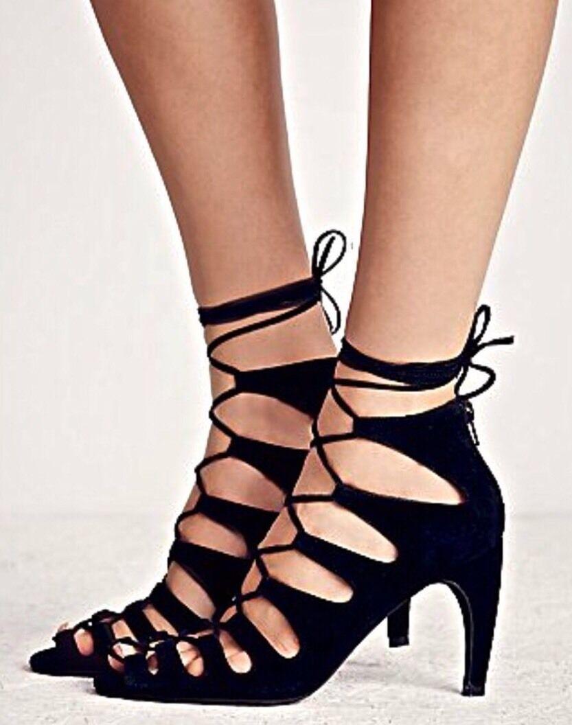 acquistare ora NEW Jeffrey Campbell Lace-Up Heels Dimensione 8 nero Suede Suede Suede  conveniente