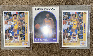 Magic-Johnson-3-Card-Lot-Upper-Deck-1991-45-Nba-Hoops-1989-270-Lakers