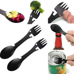 Multifunctional-Camping-Cookware-Spoon-Fork-Bottle-Opener-Portable-Tool