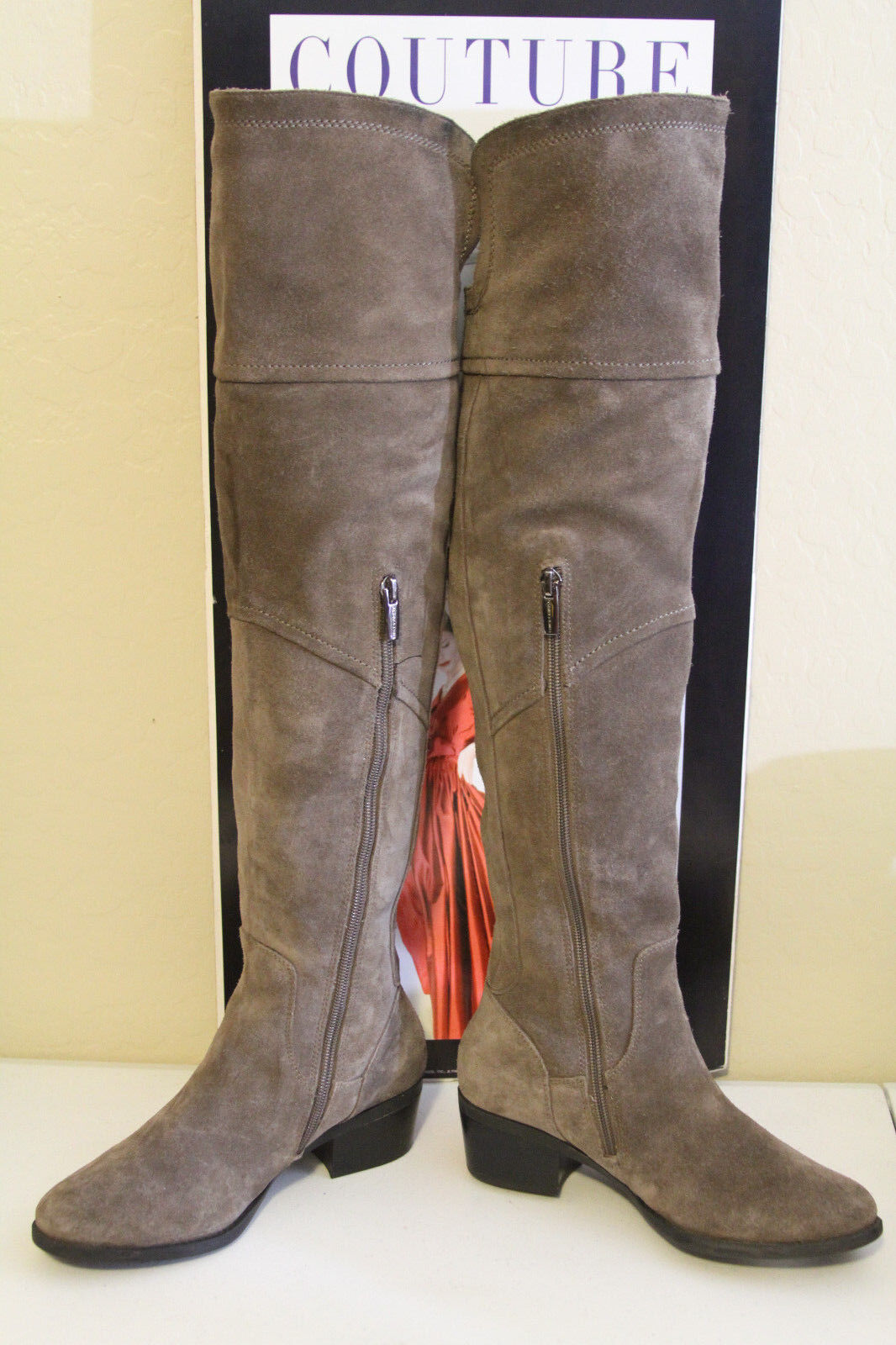 79 VINCE VINCE VINCE CAMUTO BRIELLA TAUPE SUEDE OVER THE KNEE BOOTS  SZ 5.5  MSRP 198 68bde6
