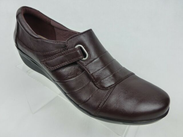 Women's Clarks Brown Leather Everlay