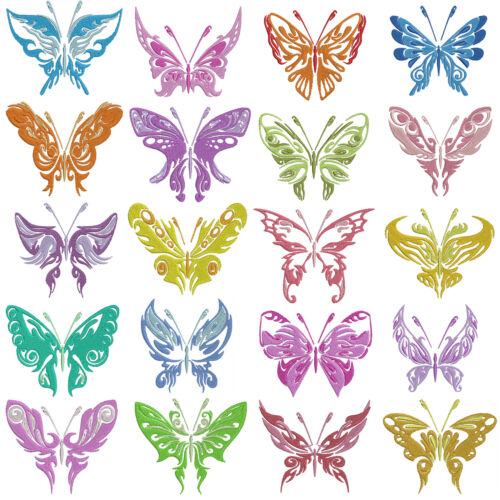 Shadow BUTTERFLIES Machine Embroidery Patterns 20 x 2 Sizes
