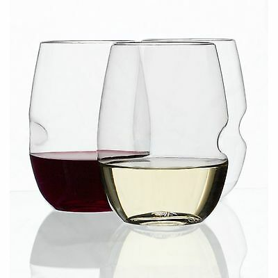 Govino Shatterproof Stemless White Wine (Tritan) Glass Set of 4 - 12oz