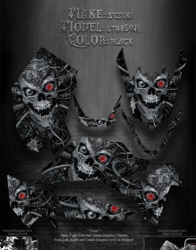"SUZUKI LTR450R 450 QUADRACER ATV GRAPHICS /""MACHINEHEAD/"" BLACK MODEL SKULL"
