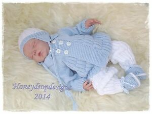 Honeydropdesigns-Skye-DK-PAPER-KNITTING-PATTERN-Reborn-Baby-3-Sizes
