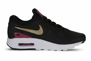 65d7920583758 Nike Air Max Zero Essential GS Running Shoes Sz 4.5Y - 7Y Black Gold ...