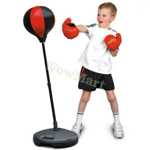 Kid-Pretend-Toy-Speed-Training-Punching-Ball-Glove-Stand-Boxing-Set-90-130cm