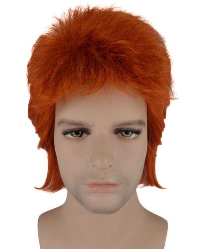 70/'s Legendary Pop Star Bowie Wig Costume Bundle Blue Suit Adult HC-002 HM-061