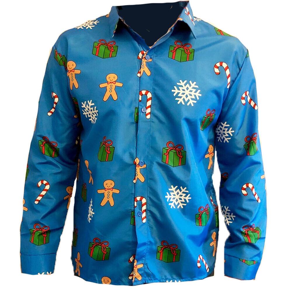 BLUE GINGERBREAD MEN CHRISTMAS SHIRT
