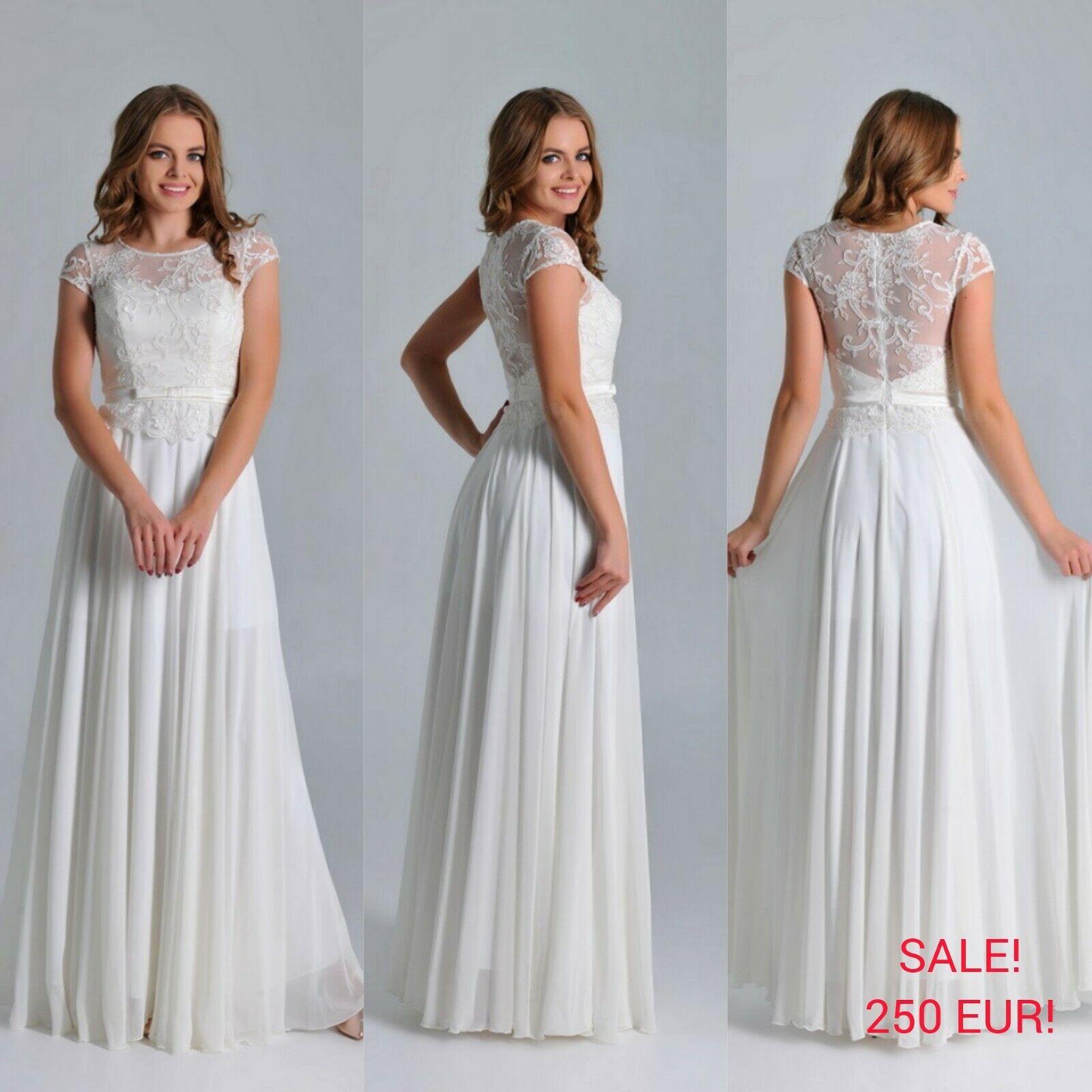 Spitze Brautkleid Hochzeitskleid Kleid Braut Neu! Gr.34-36-38