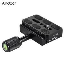 "DSLR Camera Tripod Head Quick Release Plate Sliding Clamp Adapter 1/4""Screw T6H2"