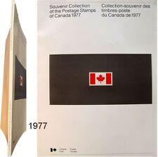 Collection-souvenir des timbres-poste du Canada 1977 postage stamps philatélie