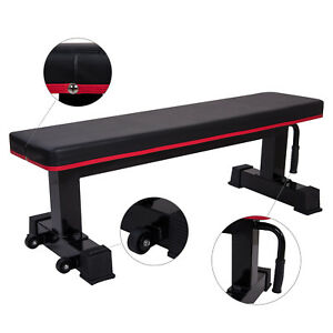 Ollieroo Flat Weight Lifting Sit Up Bench & Whells 1000lb Strength Training New