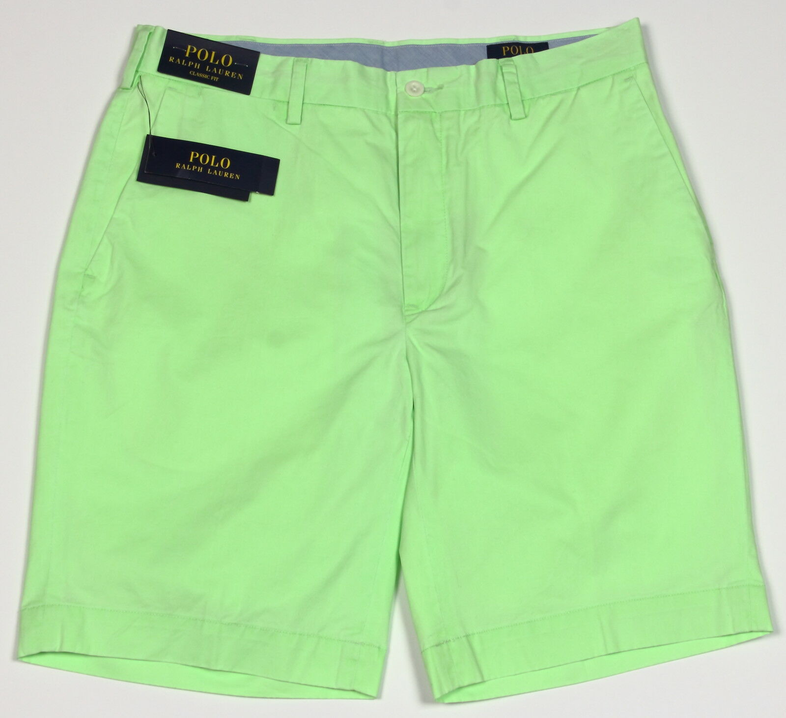 Men's POLO RALPH LAUREN Lime Green Pima Cotton Lightweight Shorts 35 NWT NEW