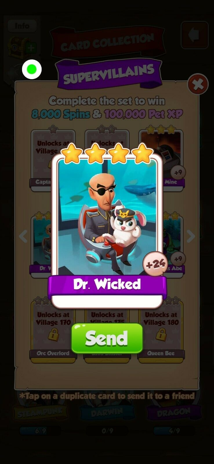 Coin Master Cards Dr Wicked 5X