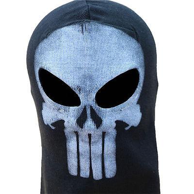 Skeleton Ghost Skull Balaclava Full Face Mask Hood Biker Halloween Props