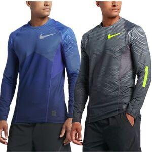 Nike-Pro-Hyperwarm-Hexodrome-Fitted-Long-Sleeve-Training-Gym-Top-Dri-FIT