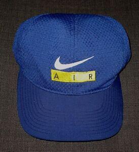 Perceptible tugurio recomendar  Vintage 90s Nike Air Azul Béisbol Gorra Gorro Gorra para hombre y para mujer  de una talla OS | eBay