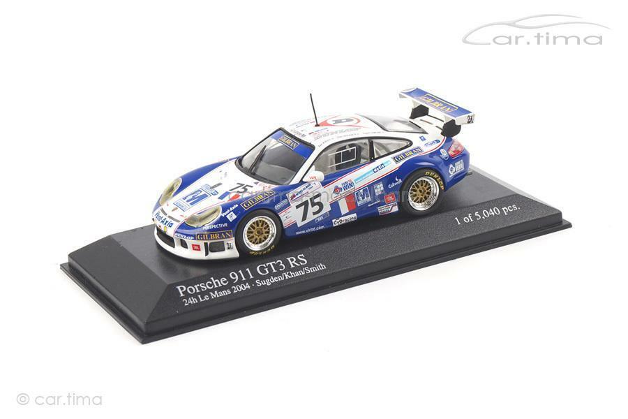 mejor precio Porsche 911 (996) GT3 RS - 24h Le Mans Mans Mans 2004 Sugden   Khan - Minichamps 1 43-.  excelentes precios