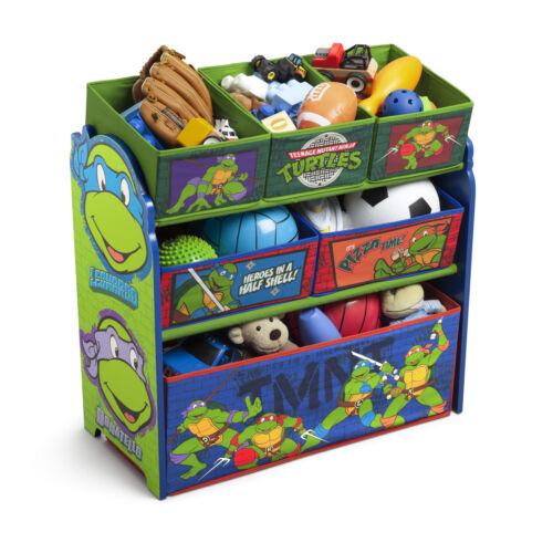 Toy Bin Organizer Kids Boys Teenage Mutant Ninja Turtles Play Room Chest Box New