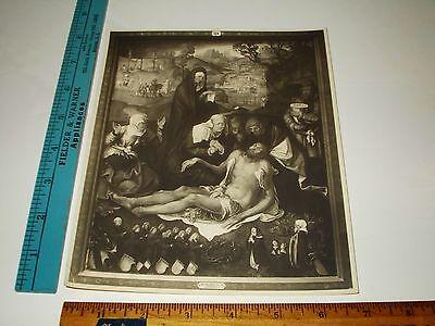 Rare Historical Original VTG The Lamentation of Christ German Museum DBLWT Photo