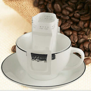 50Pcs Useful Drip Coffee Filter Bag Hanging Ear Paper Brew Coffee and Tea Tools