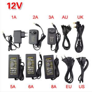 HOT-AC100-240V-To-DC12V-1-2-3-5-6-8A-Power-Supply-Adapter-Transformer-LED-Strip