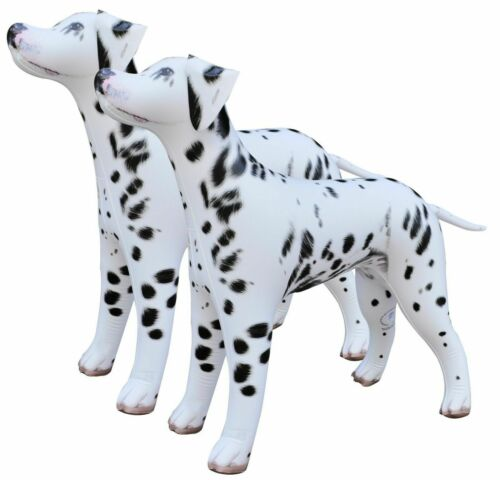 2 Inflatable Dalmatian Dog Pet Animals Gift Toy Party Decor