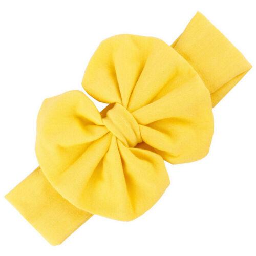 Mädchen Baby Baumwolle Bogen Stirnband Stretch Turban Knoten Kopf Wrap für Kid