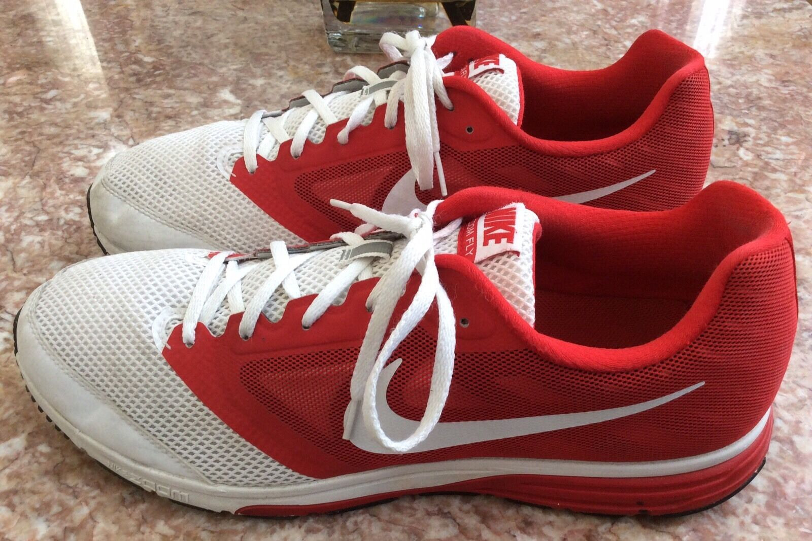 Nike Zoom Fly Men's Team Red/White Athletic Running Shoes Sz 14 - 652828-161 EUC